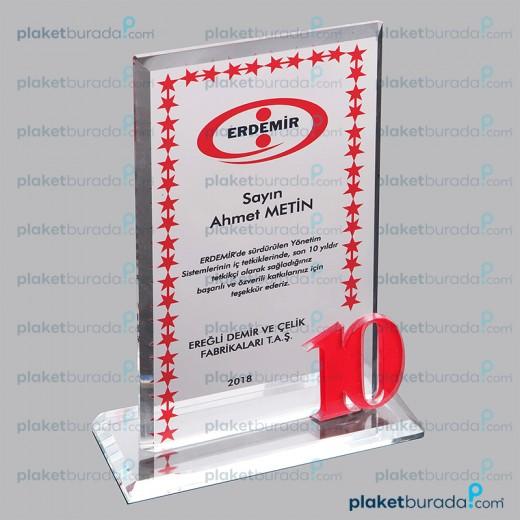 Kristal Plaket PB 3001r 10