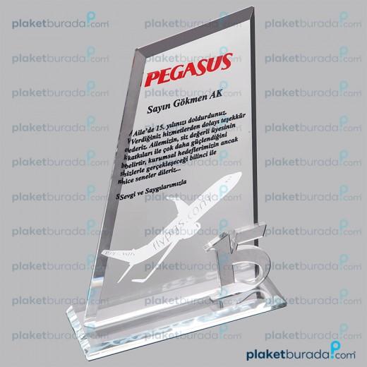 Kristal Plaket PB 3007 r 15